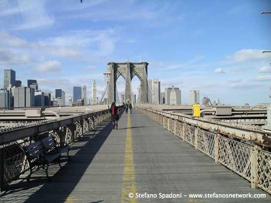 Crossing the Brooklyn bridge 12